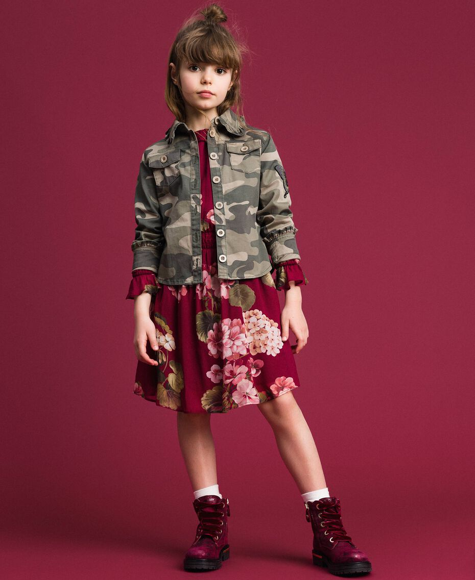 Camicia a stampa camouflage Stampa Camouflage Bambina 192GJ2160-0T