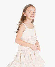 Flounced dress Pale Cream Child GS8LBG-05