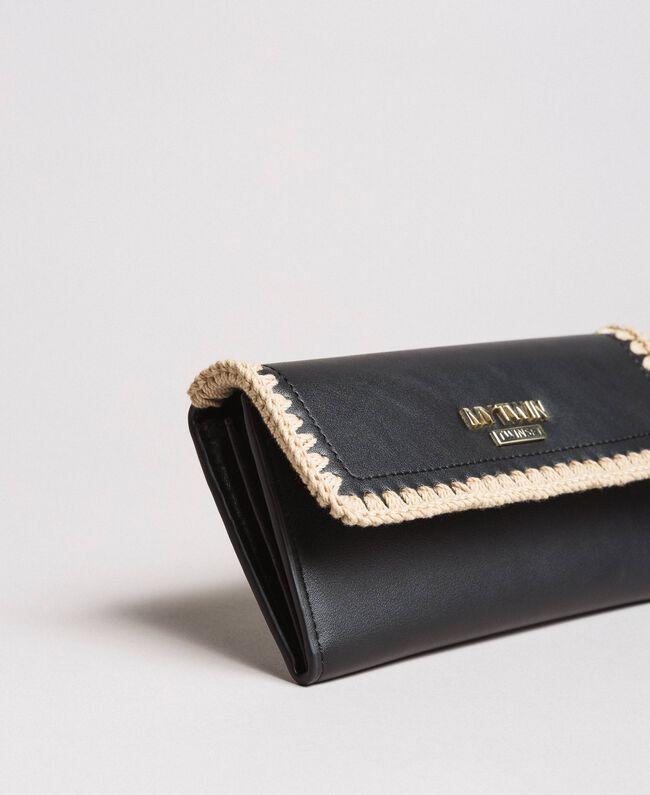 Geldbörse aus Kunstleder Schwarz Frau 191MO8094-01