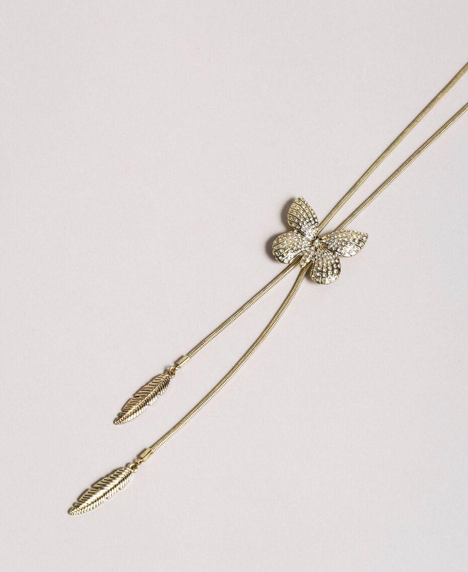Collier avec papillon et pendentifs Cristal Femme 191TA4314-02