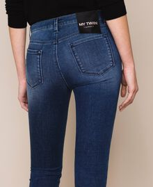 Push up jeans with studs Denim Blue Woman 201MP227J-04