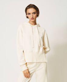 Sudadera con capucha Blanco Nata Mujer 202MP2161-02