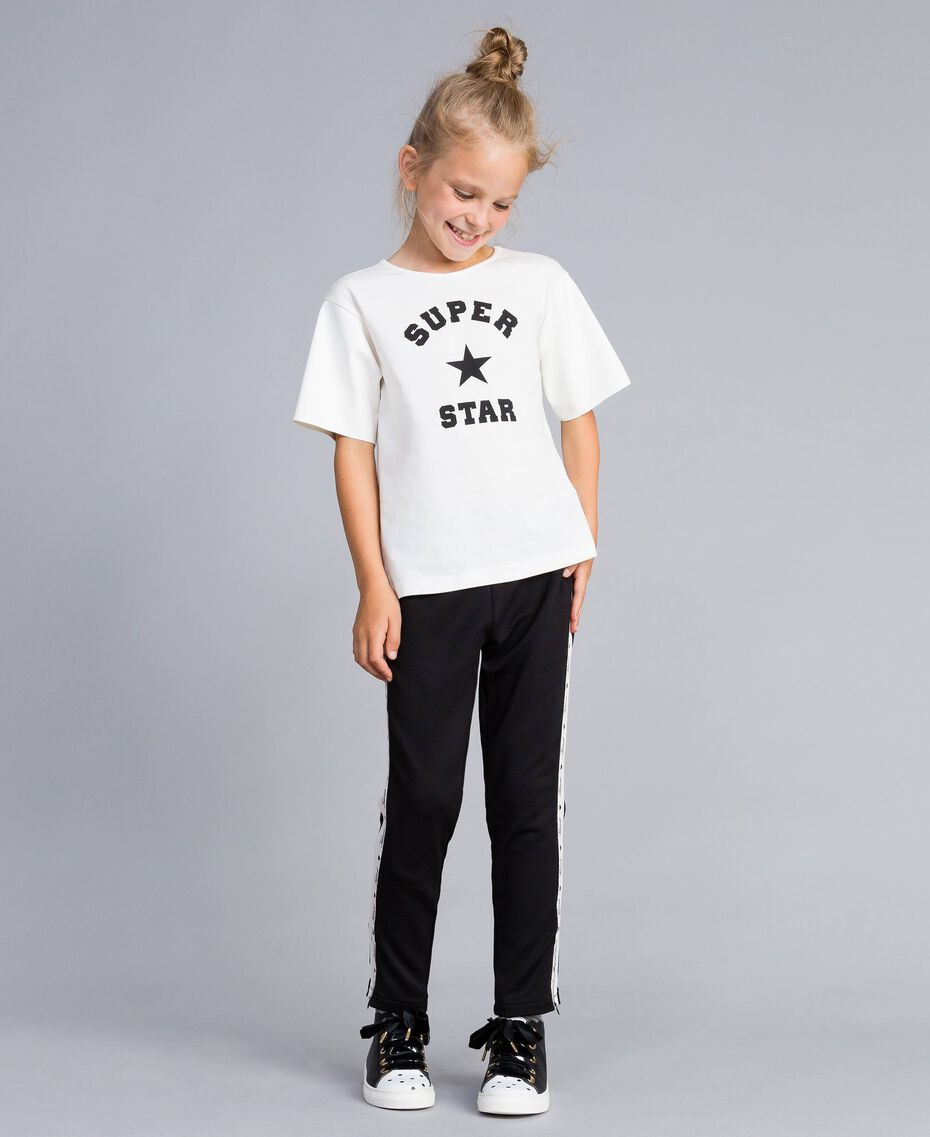 Printed cotton t-shirt Off White Child GA82B3-0S