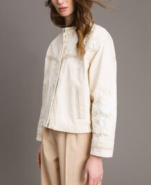 "Jacket with embroidery and trimmings ""Shell"" Beige Woman 191MT2190-05"