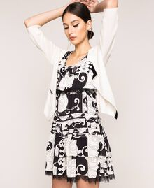 Printed georgette mini dress White Liberty Print / Black Woman 201ST213L-0T