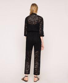 Macramé lace jumpsuit Ivory Woman 201TP2195-04