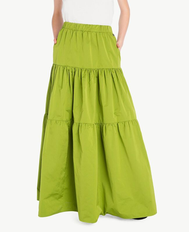 "Technical fabric skirt ""Lime"" Green Woman PS82J8-01"