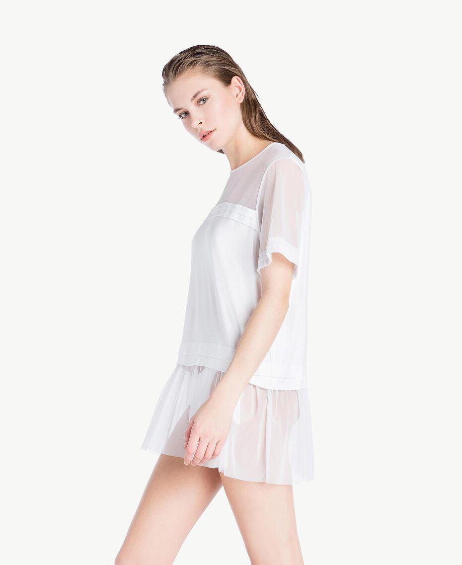 Maxi tulle T-shirt White Woman BS82TT-03