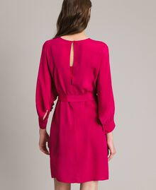 "Silk blend tunic dress ""Anemone"" Fuchsia Woman 191TP2147-03"