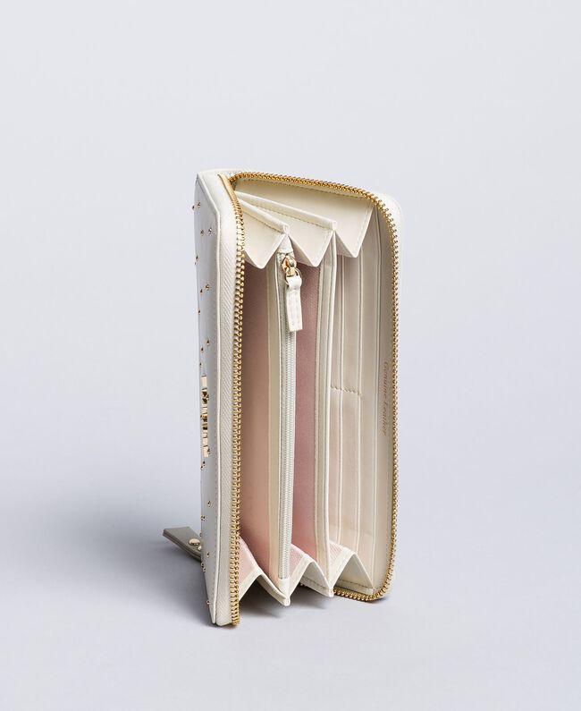 Кожаный кошелек с заклепками Белый Снег женщина AA8PA7-03
