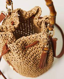 Weaved raffia bucket bag Straw Woman 211TD8241-05