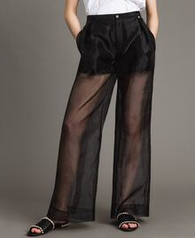 Organza palazzo trousers Black Woman 191MT2132-04