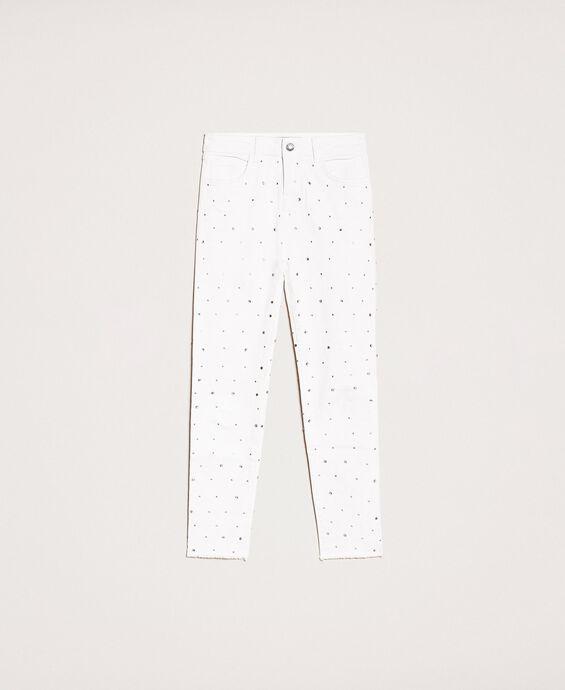 Pantalon skinny strassé