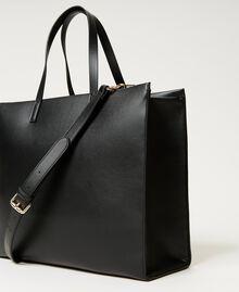 Twinset Bag im Shopperformat mit Logo Schwarz Frau 211TD8080-04