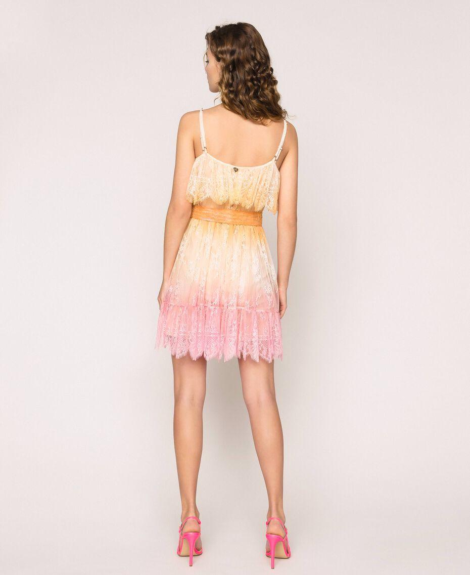 Tie-dye lace dress Multicolour Tie Dye Pink Woman 201TT2281-03