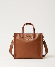 Twinset Bag im Shopperformat aus Leder Leder Frau 211TD8041-01