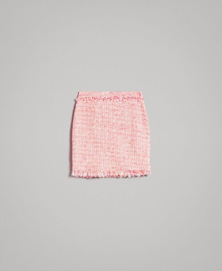 """Миниюбка из твида с бахромой Разноцветный """"Wild Rose"""" Розовый Букле женщина 191TP2527-0S"""