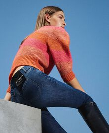 "Eco friendly push-up jeans ""Mid Denim"" Blue Woman 202MP2511-01"