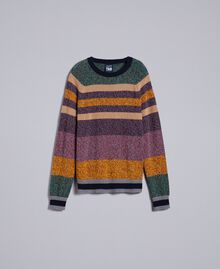 Maglia in misto lana color block Multicolor Mouline' Man Uomo UA83GC-0S