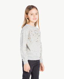 Sweat-shirt clous Gris clair chiné Enfant GS82G2-03