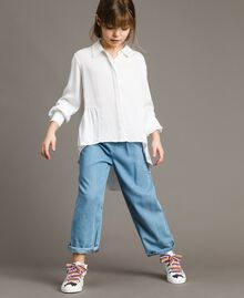 Leather sneakers with patch White Child 191GCJ146-0T