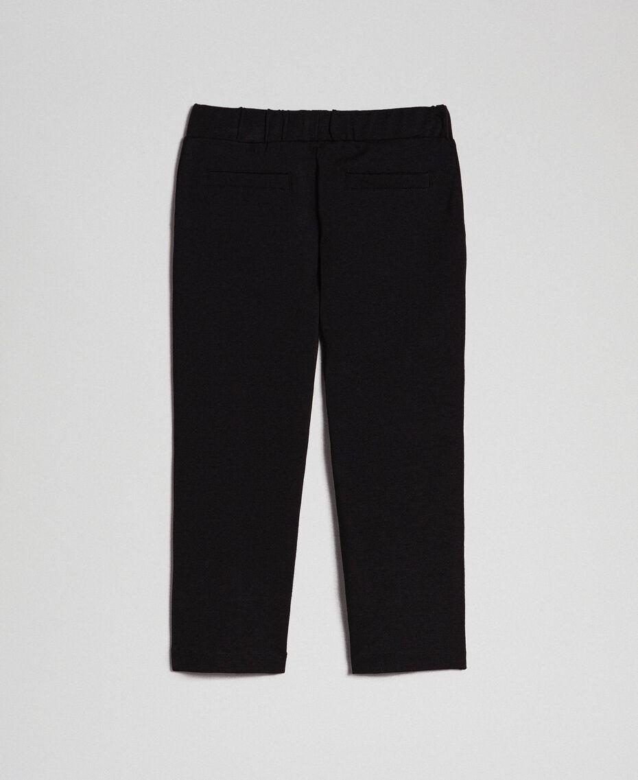 Leggings mit Seitentaschen Schwarz Kind 192GB2250-0S