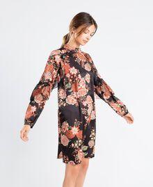 Robe en twill avec imprimé floral Imprimé Noir Fleur Femme LA8KSS-02