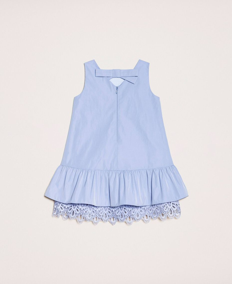 "Taffeta and lace dress ""Ice"" Dark Blue Child 201GB2Q2A-0S"
