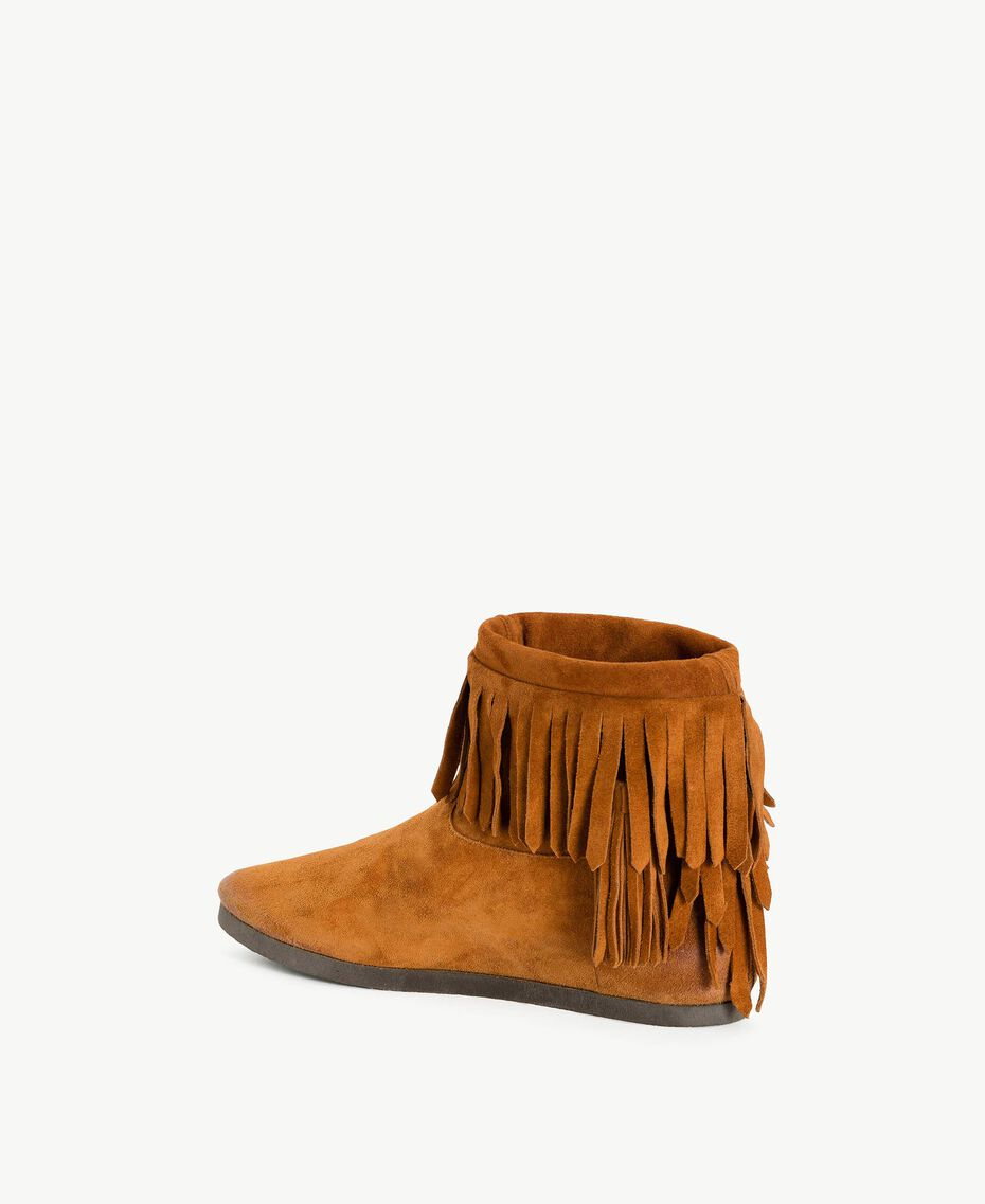TWINSET Fringed boots Leather Brown Woman CS8TAW-03