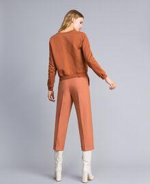 Pantalon en laine bi-stretch Marron Terre Femme TA827R-03