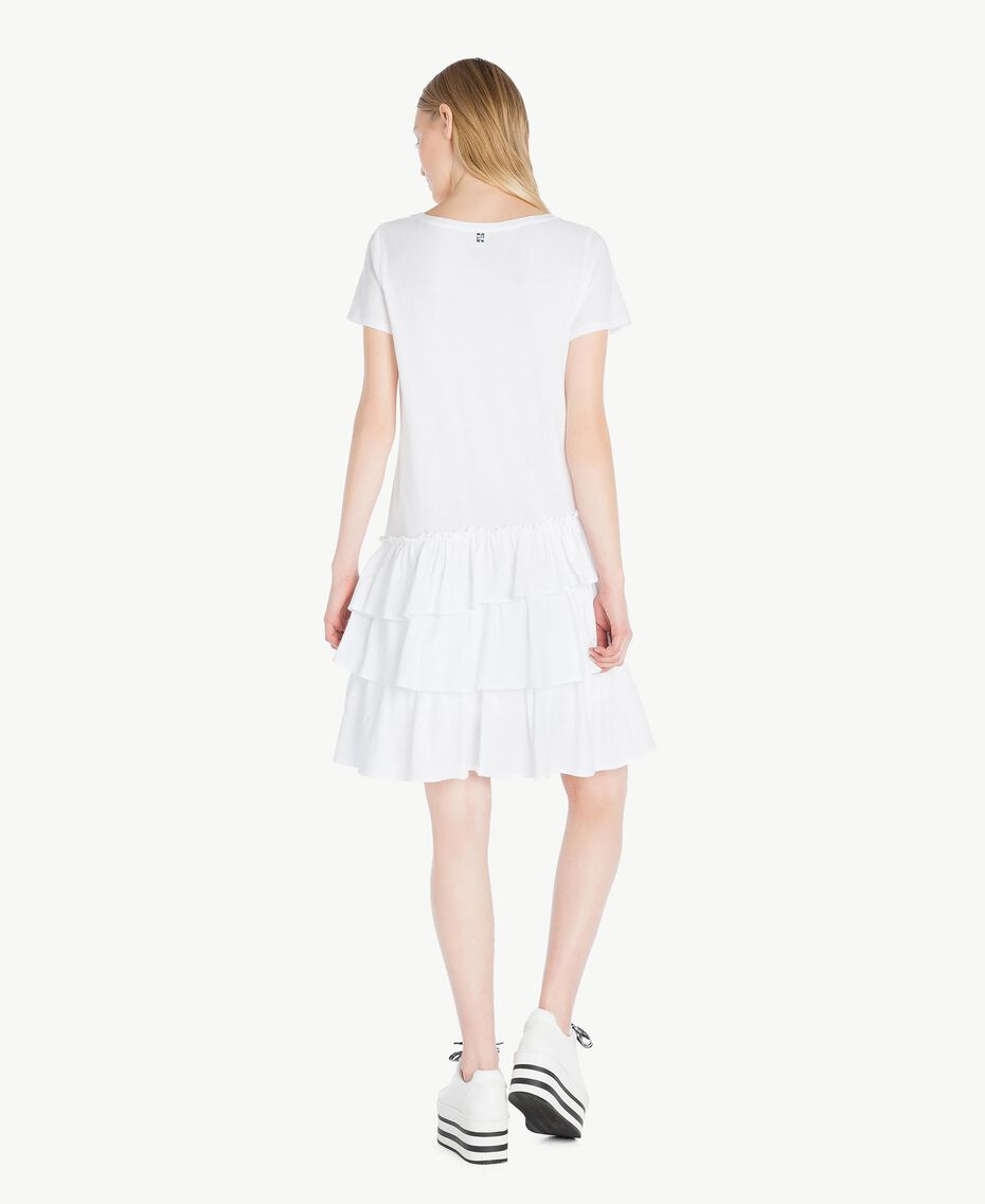 Kleid mit Stickerei Weiß Frau YS82D4-03