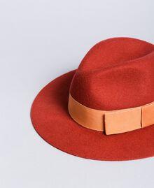 Chapeau avec ruban en contraste Bicolore Orange Brûlée / Rose «Sable Rose» Femme OA8T91-01