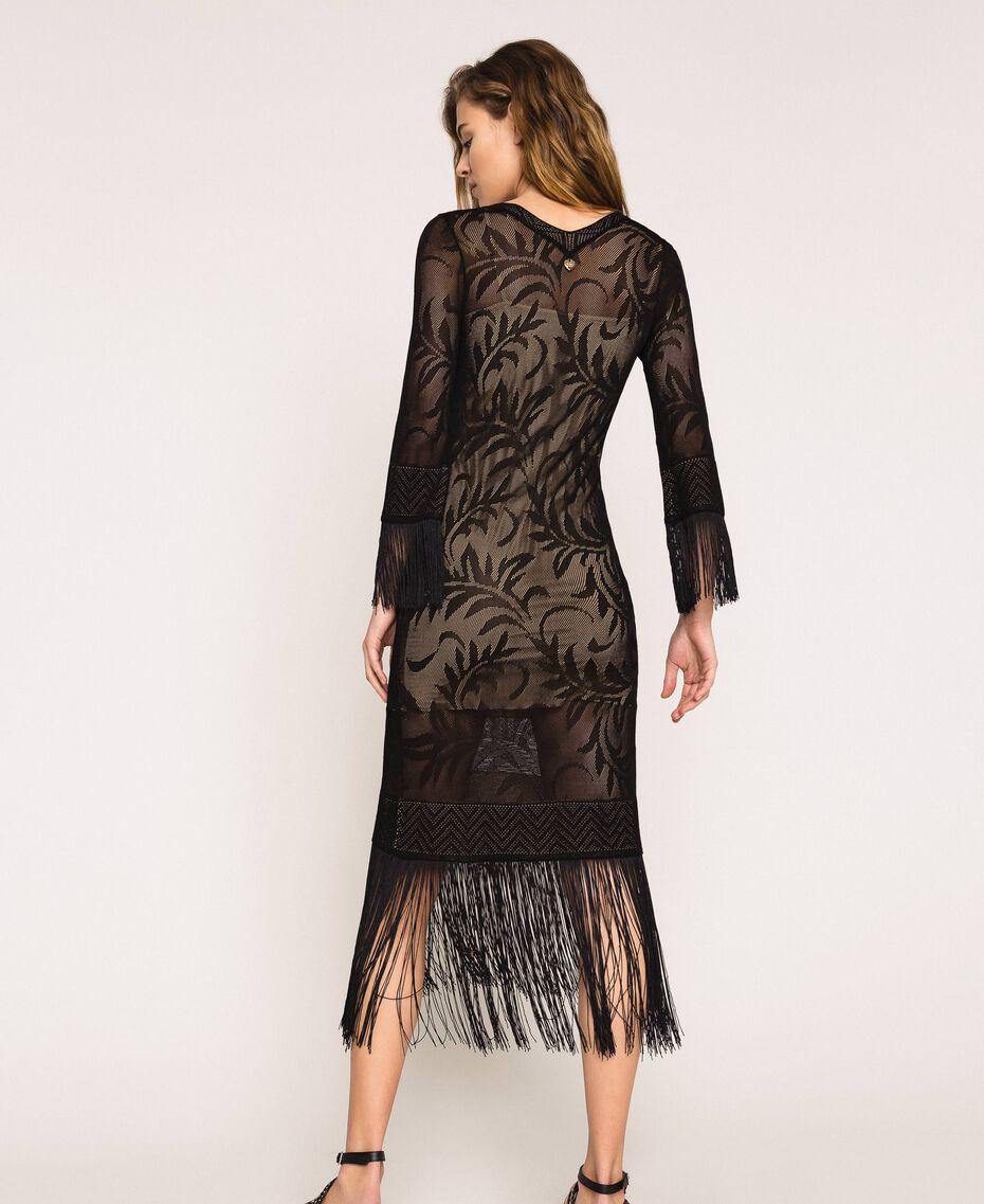 Robe en dentelle filet avec franges Rose «Jazz» Femme 201TT3010-03
