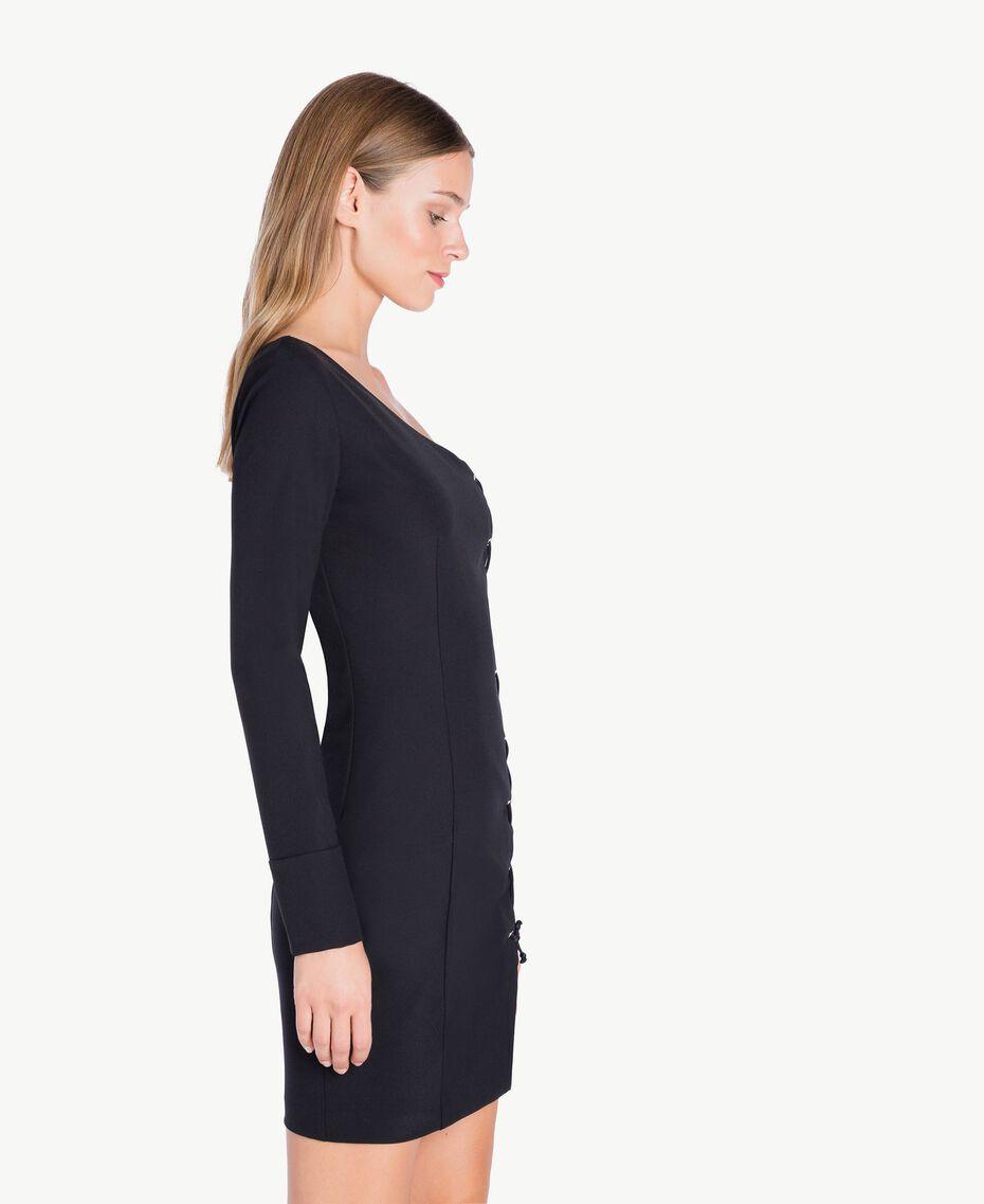 Robe asymétrique Noir PA727R-02