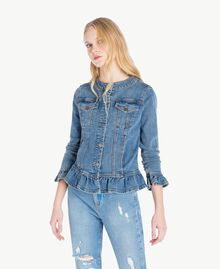 Denim jacket Denim Blue Woman JS82T1-01