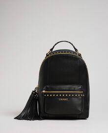 Zaino in similpelle con borchie Nero Donna 192TO8165-01
