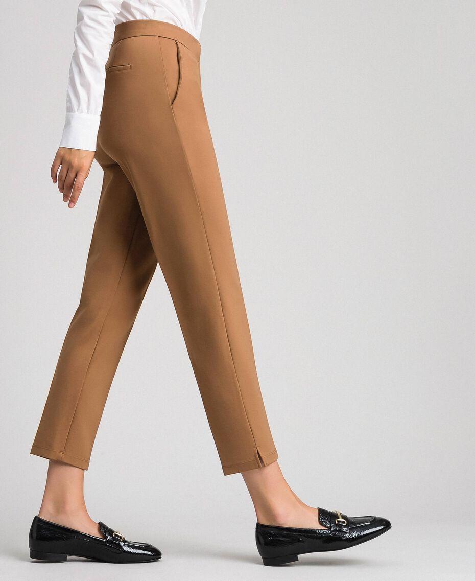 "Pantaloni a sigaretta con tasche Verde ""Forest"" Donna 192ST2134-01"