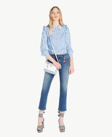 Ausgestellte Jeans Denimblau Frau JS82V4-05