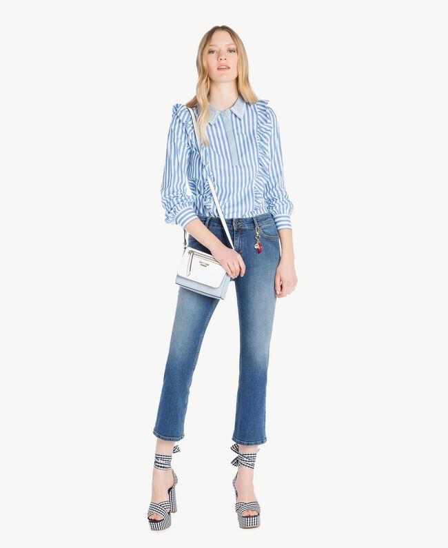 Jeans flare Denim Blue Donna JS82V4-05