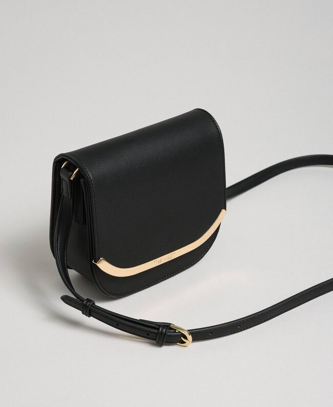 Faux leather small shoulder bag Black Woman 192TO8053-01
