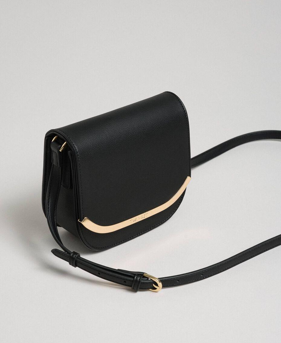 Маленькая сумка через плечо из искусственной кожи Черный женщина 192TO8053-01