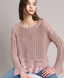 Lace stitch lurex top Pearl Pink Lurex Woman 191TP3351-01