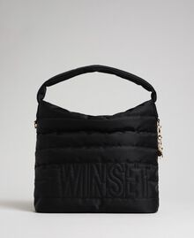 Padded hobo bag with shoulder strap Black Woman 192TO8063-02