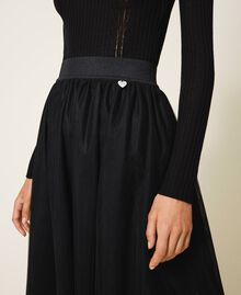 Jupe longue en tulle Noir Femme 202TP239A-04