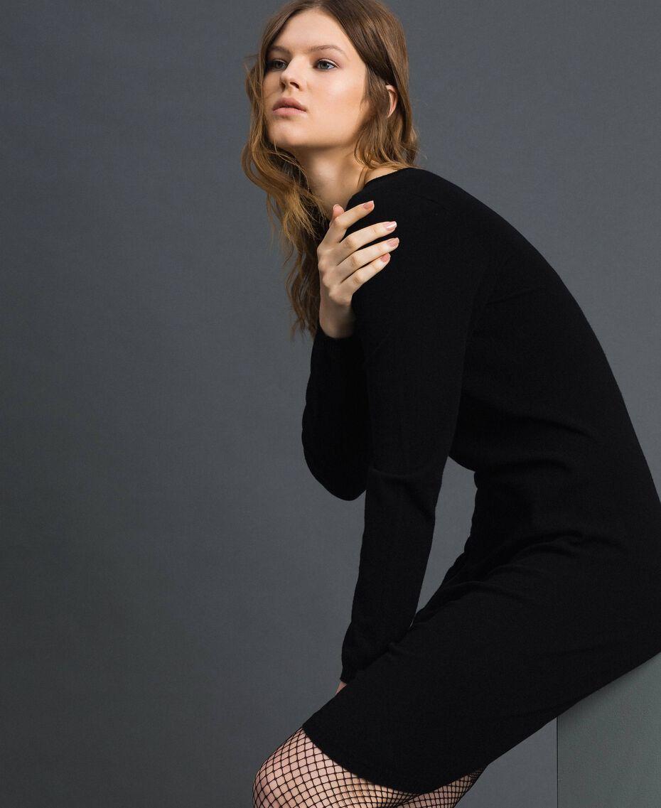 Robe avec fermeture éclair asymétrique Noir Femme 192TP3260-02