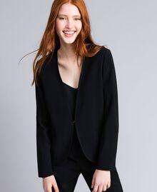 Envers satin tuxedo jacket Black Woman QA8TGN-01