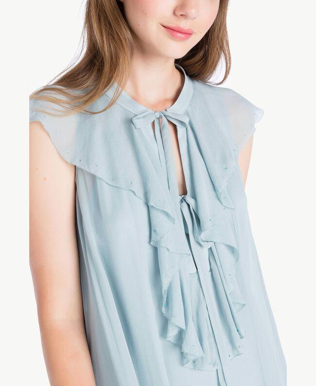 Kleid mit Rüschen Blau pulver QA7PAC-04