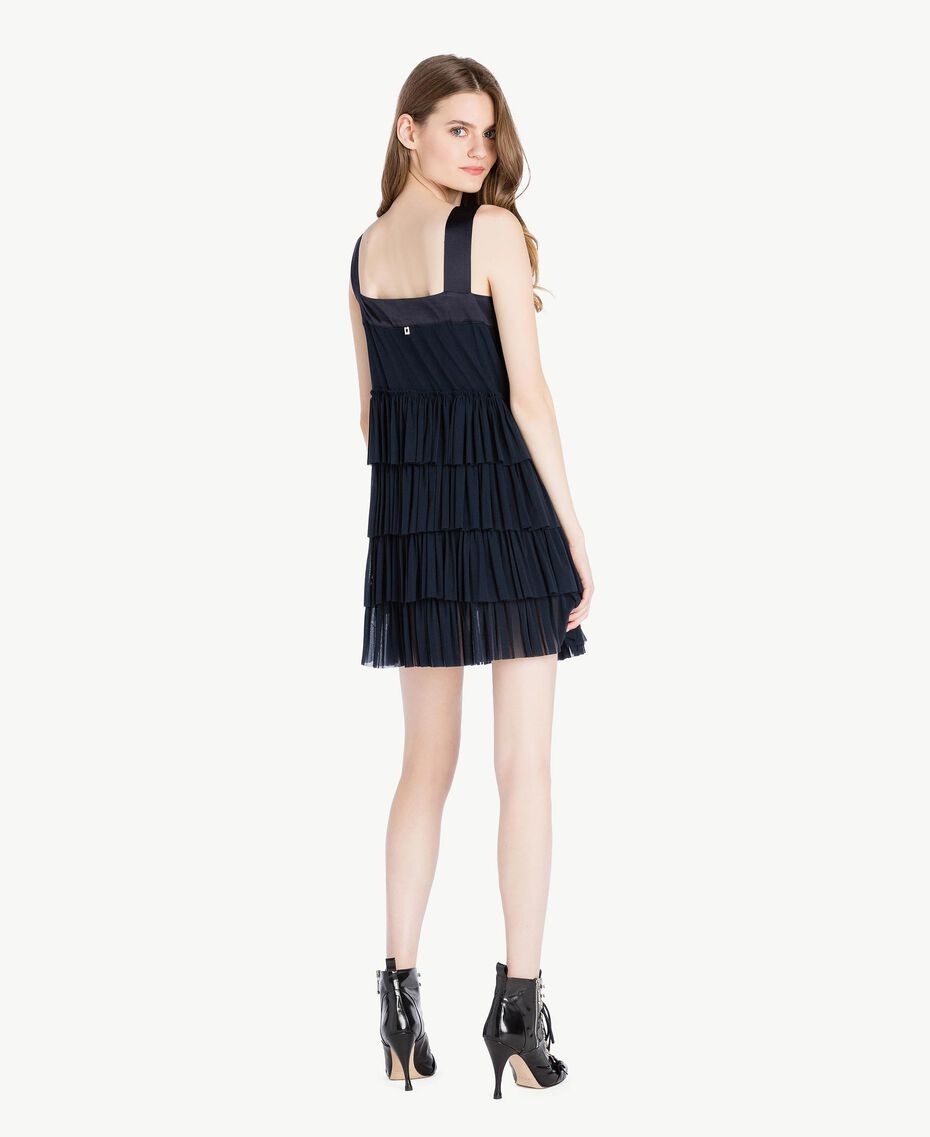 Tulle dress Dark Blue Woman PS8272-03