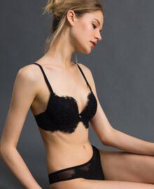 String en tulle et dentelle Noir Femme 192LI6188-02