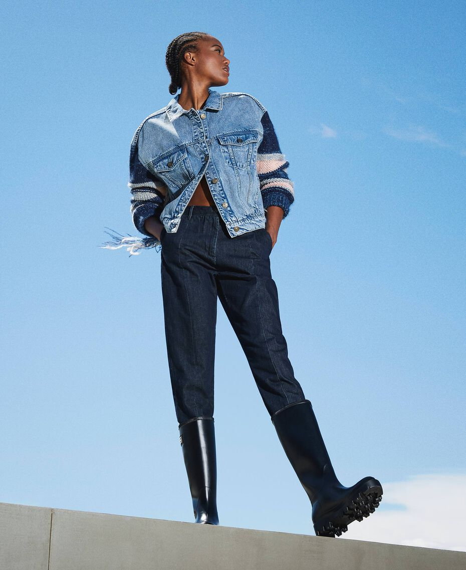 Tapered fit jeans Dark Denim Woman 202MP2071-01